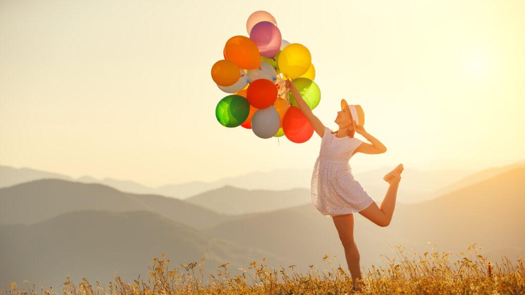 Befreite Gefühle, buntes Leben